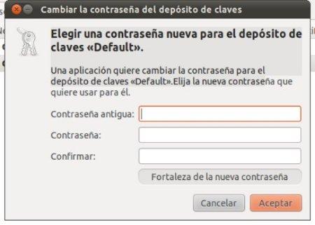 Pantallazo Cambiar la contraseña del depósito de claves1 Evitar introducir la contraseña de administrador al abrir Chromium en Ubuntu