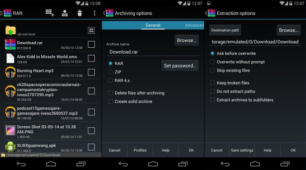 RAR for Android screenshot
