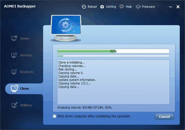SSD-aomei
