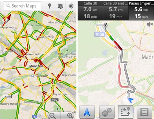 Screen shot 2011 07 13 at 8.25.21 AM Google Maps te avisa del estado del tráfico, ahora también en España