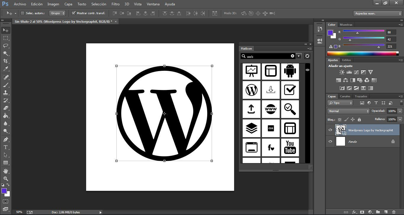 Vector flaticon photoshop