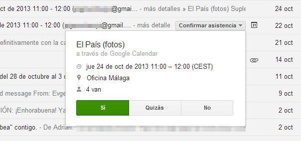 botones gmail