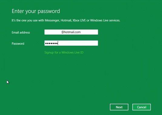 Sistema de gestión de contraseñas de Windows 8