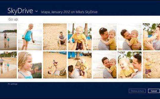 SkyDrive y su integración con Windows 8