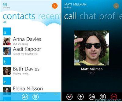 Skype para Windows Phone