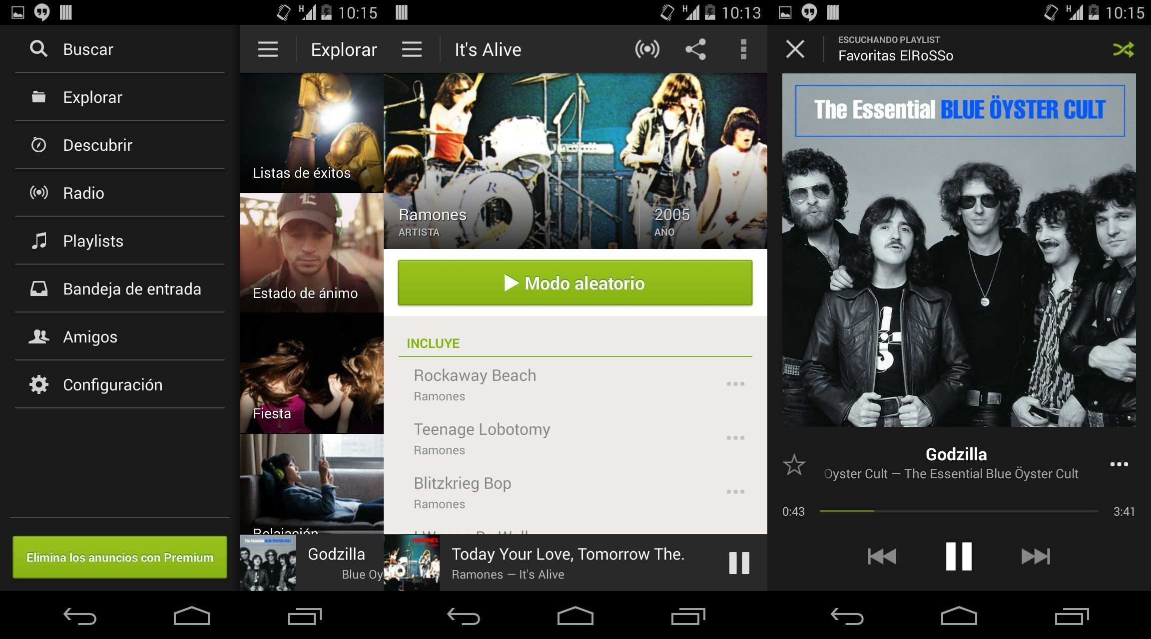 Spotify-Android-screenshots