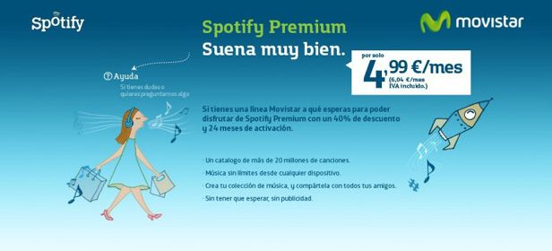 Spotify Movistar cabecera