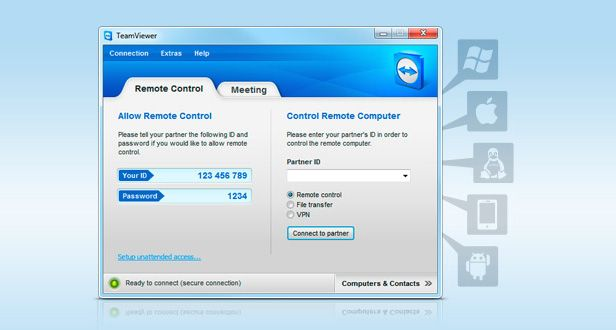 TeamViewer captura
