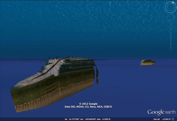 Titanic3DScreenshot1 Visita el Titanic en el fondo del mar con Google Earth