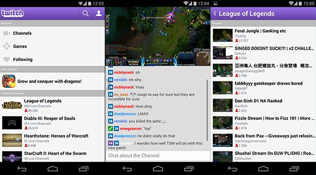 Twitch-Android-screenshots