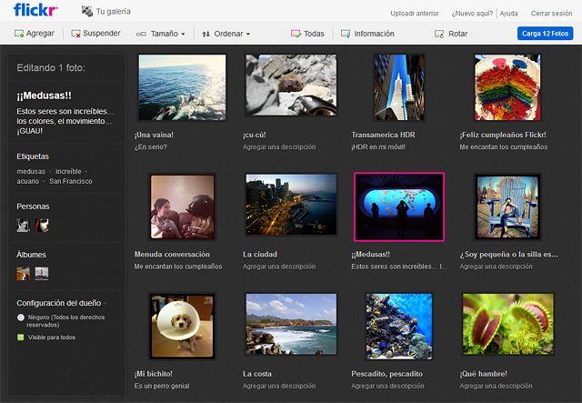 UploadR Flickr presenta su cargador de imagenes en HTML5