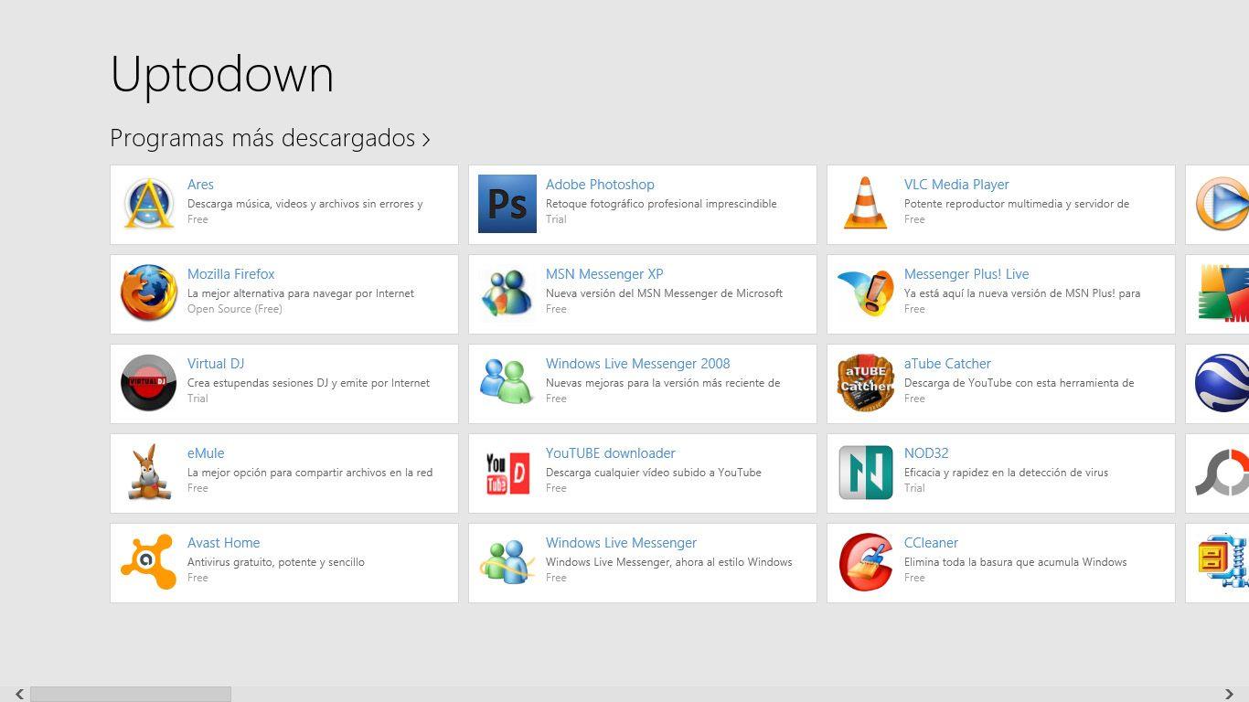 Uptodown Windows 8 Uptodown ya tiene aplicación para Windows 8