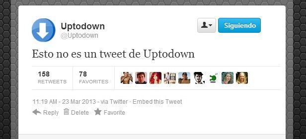 Uptodown tweet falso cabecera