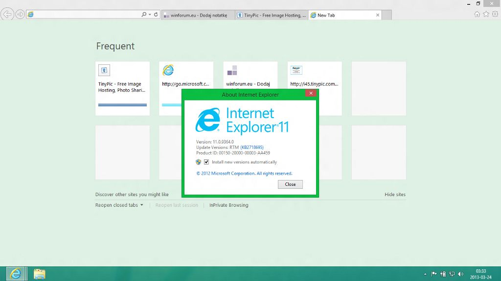 Windows Blue Internet Explorer 11
