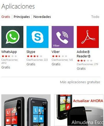Windows Phone Marketplace se acerca a las 100.000 aplicaciones