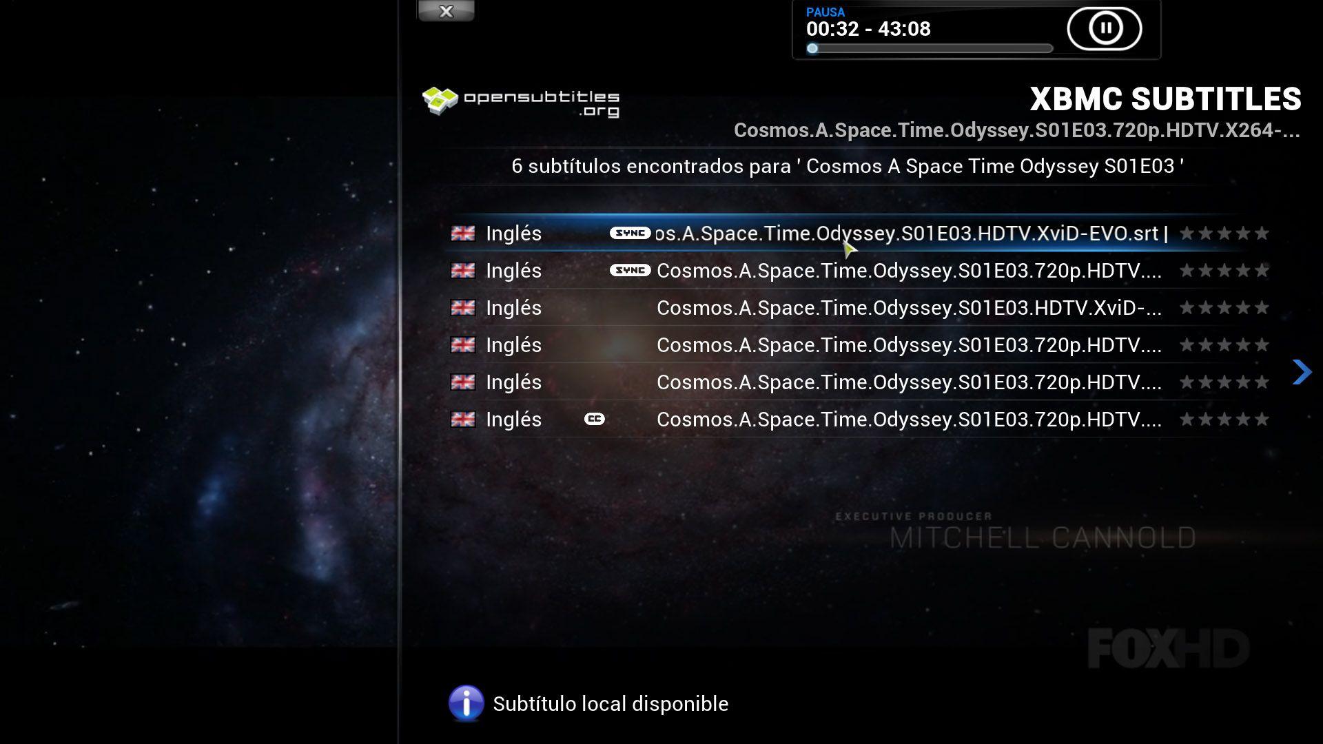 XBMC-subtitulos