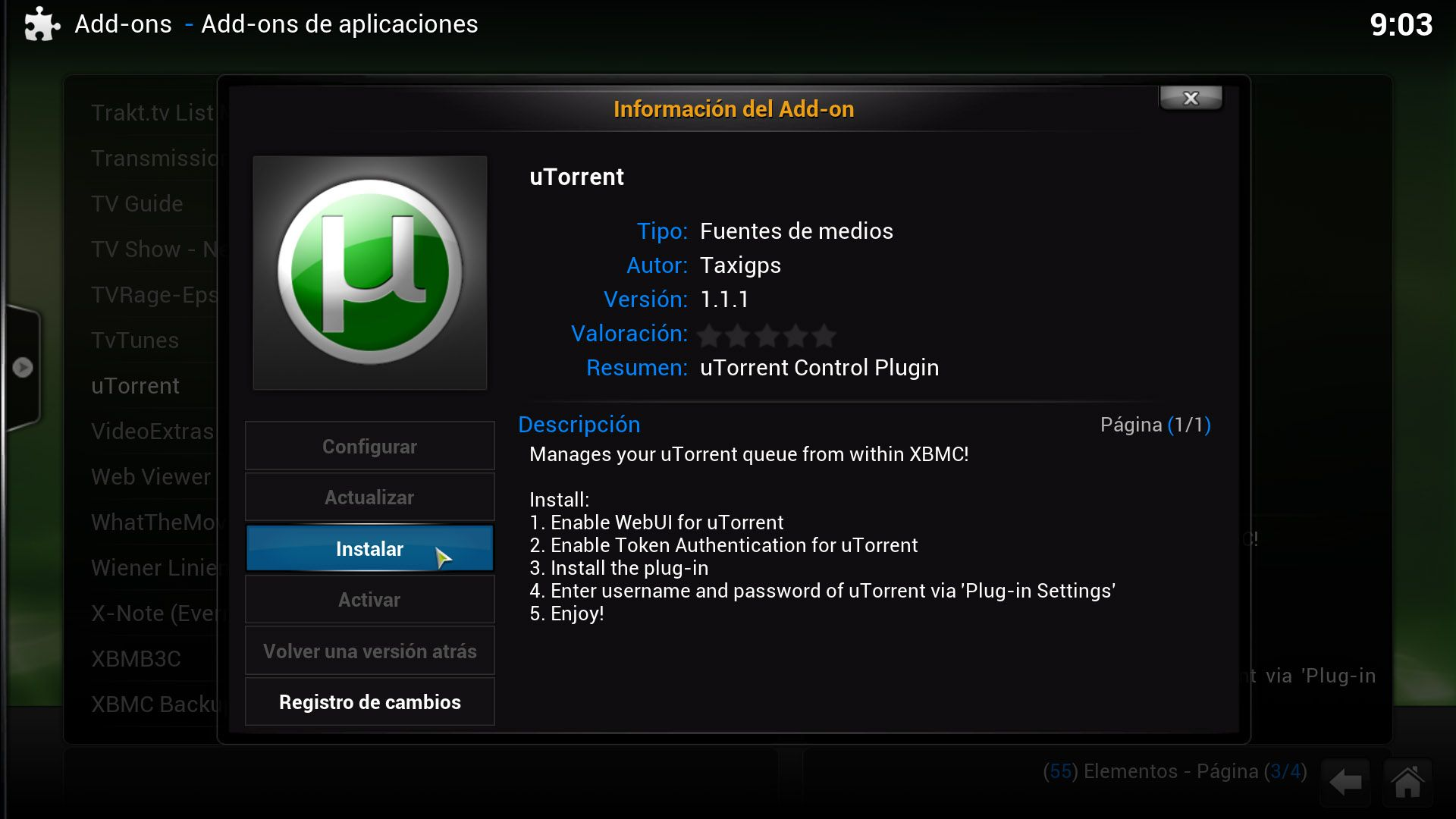 XBMC-utorrent