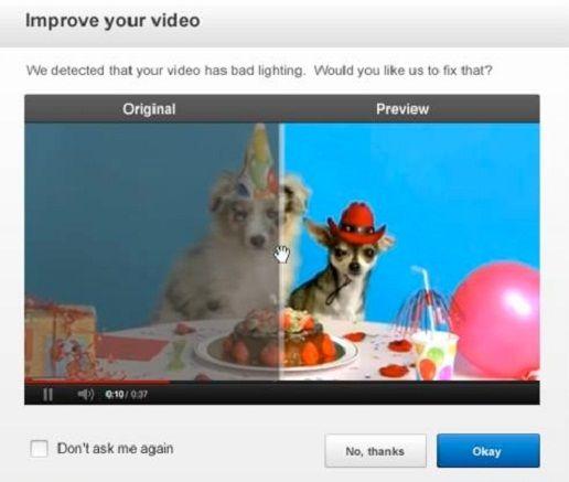 YouTube mejora la iluminación y la estabilidad de sus videos