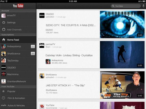 Youtube iPad Google actualiza las aplicaciones de GMail y Youtube para iOS