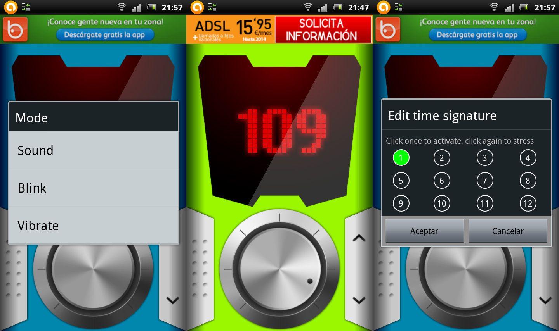 ZYMI Android Metronomo Cinco aplicaciones de Android indispensables para músicos