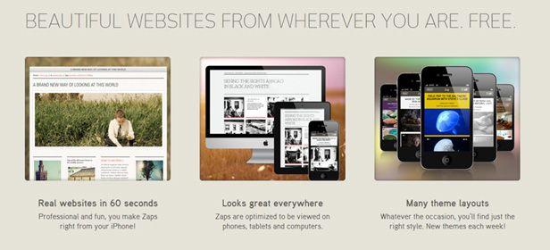 Zapd cabecera Zapd, una aplicación para crear mini-blogs desde dispositivos iOS