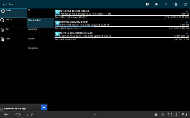 aDownloader new Los cinco mejores clientes torrent para Android