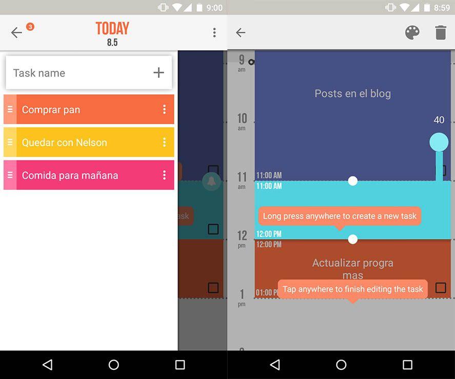 Accomplish, el organizador de tareas para Android