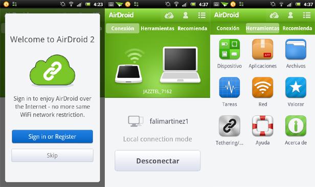 airdroid 2 captura Ya disponible AirDroid 2 Beta con increibles mejoras