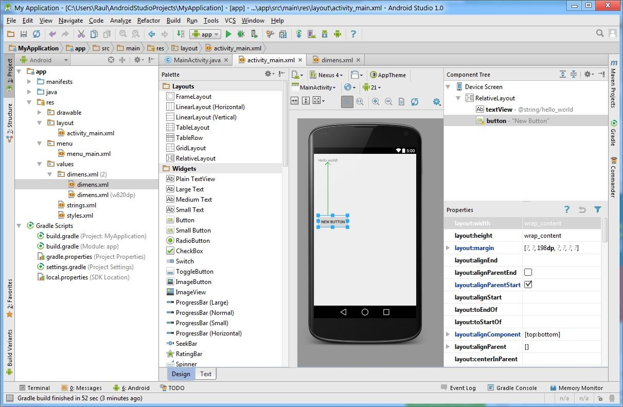 android studio تطبيقات الأندرويد 2014,2015 android-studio-scree