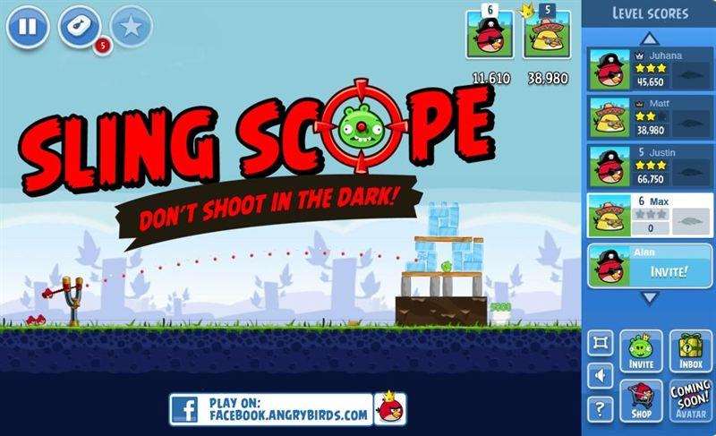 angrybirds facebook Los Angry Birds llegan a Facebook y se preparan para volar al espacio