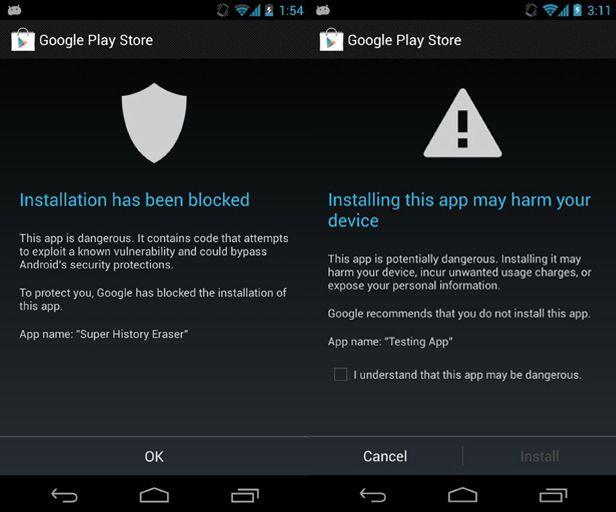 app peligrosa google service
