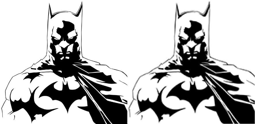 batman-vector-vs-bitmap
