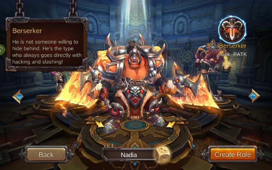 burning blood screenshot 1 Burning Blood, clon en miniatura de World of Warcraft para Android