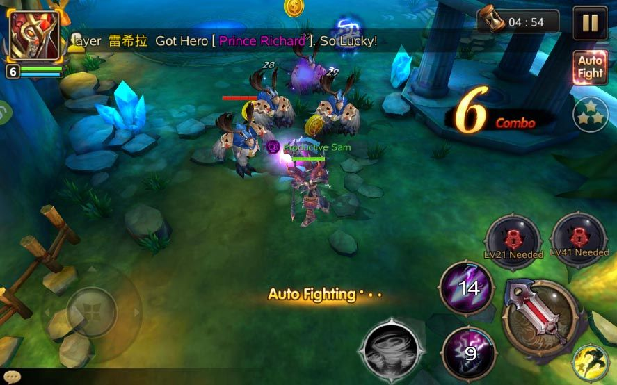 burning blood screenshot 2 Burning Blood, clon en miniatura de World of Warcraft para Android