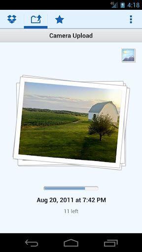 cameraupload Dropbox para Android con subida de fotografias