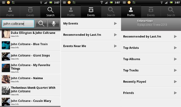 captura lastfm android Apps Android para escuchar música en la nube