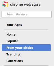 chrome store circles Llegan las recomendaciones de nuestros círculos a la Chrome Web Store