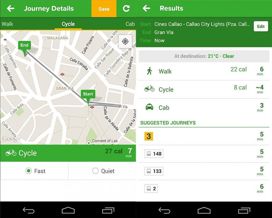 Citymapper Android screenshot