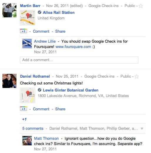 confused google checkins Google+ competirá con Foursquare