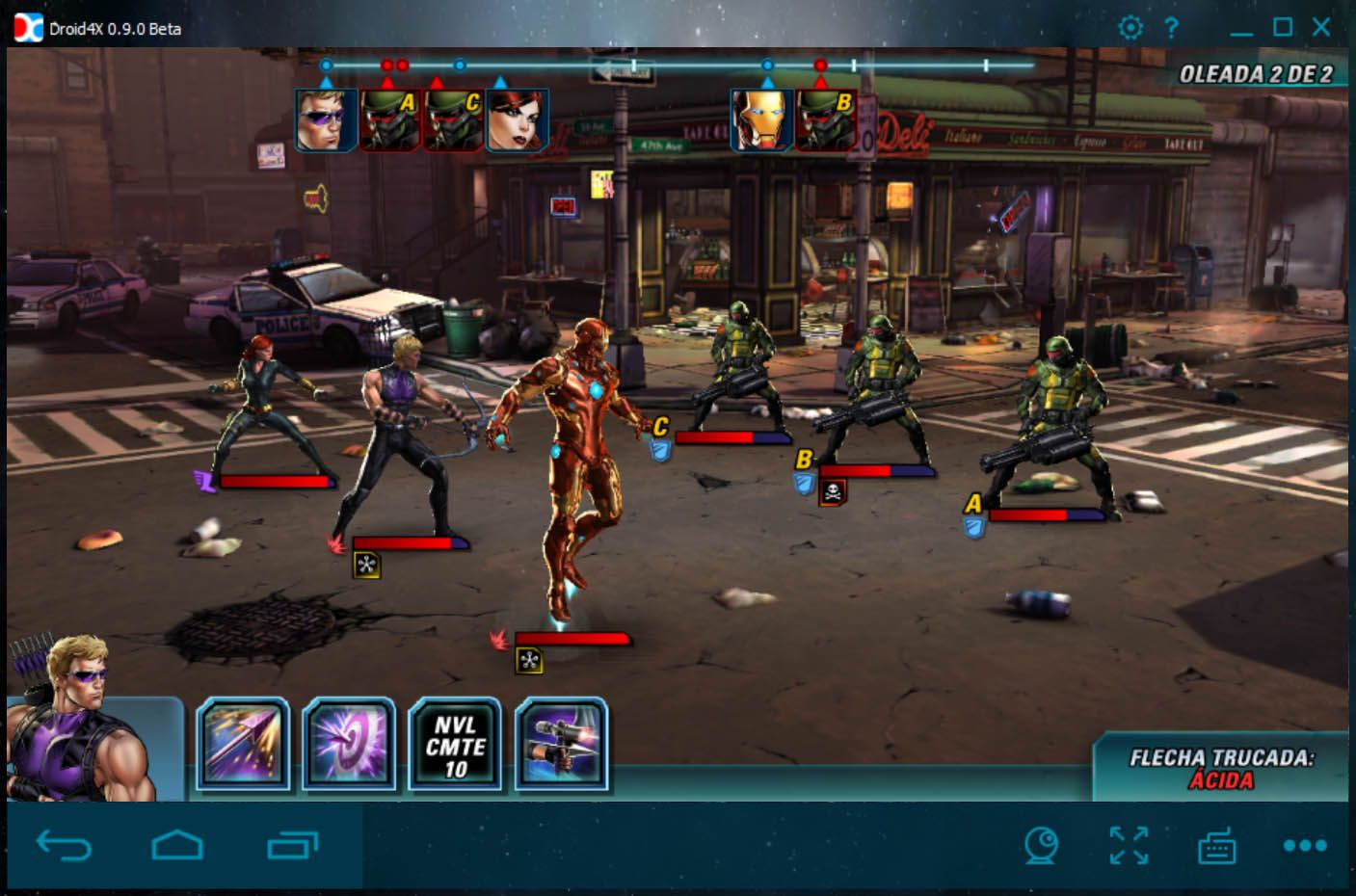 Droid4x Marvel Avengers Alliance 2