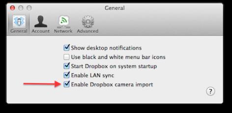 dropbox1 Dropbox importa fotografías automáticamente desde tu cámara