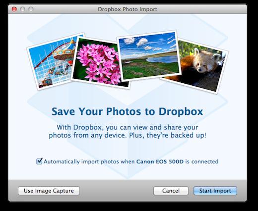 Dropbox importa fotografías automáticamente desde tu cámara