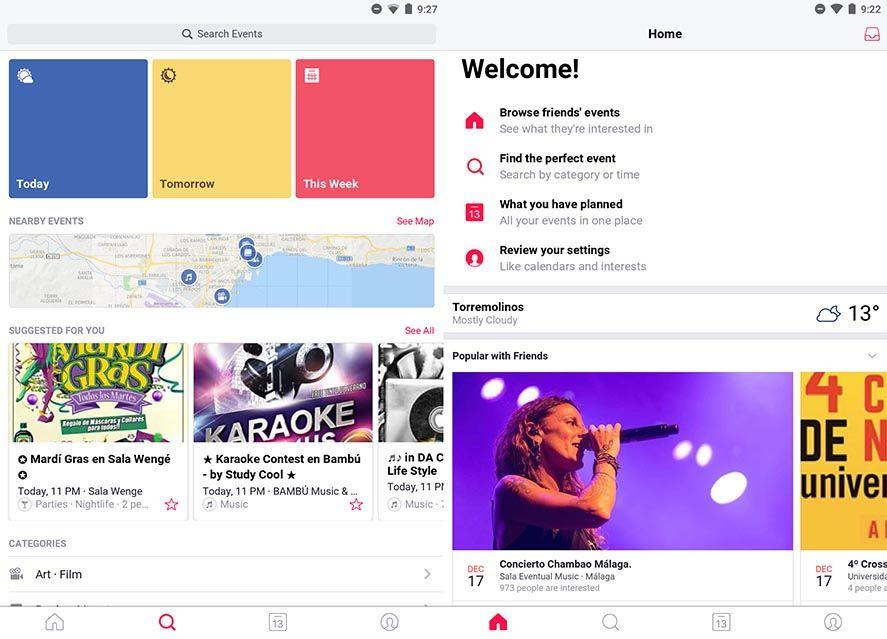 events from facebook screenshot Facebook lanza una nueva aplicación para planificar eventos