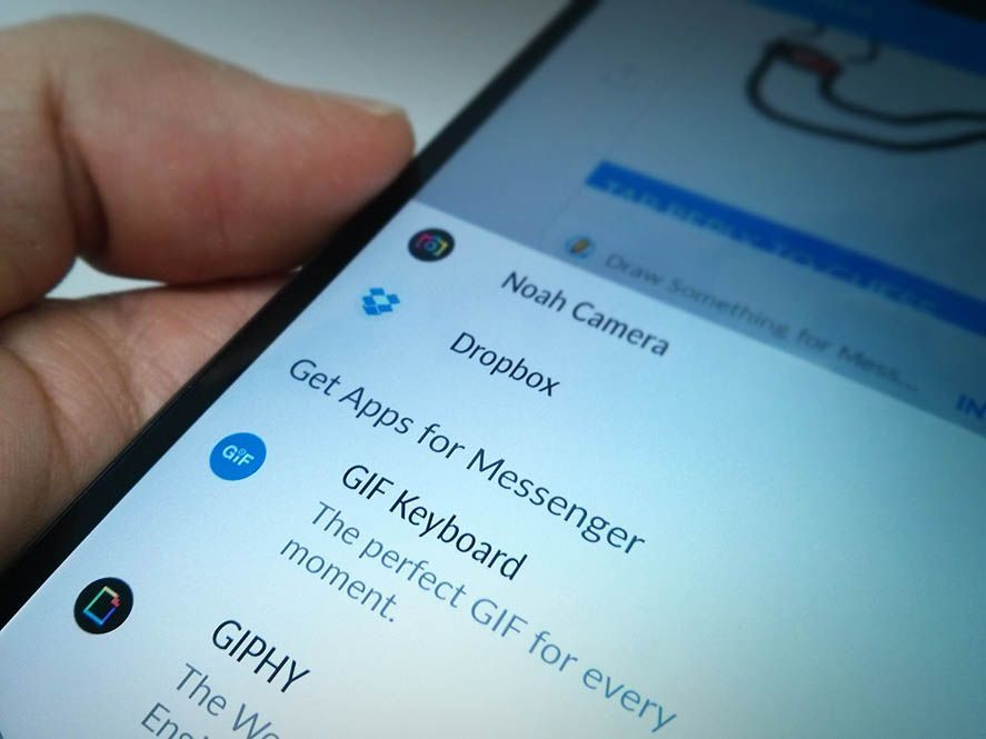 Dropbox en Facebook Messenger