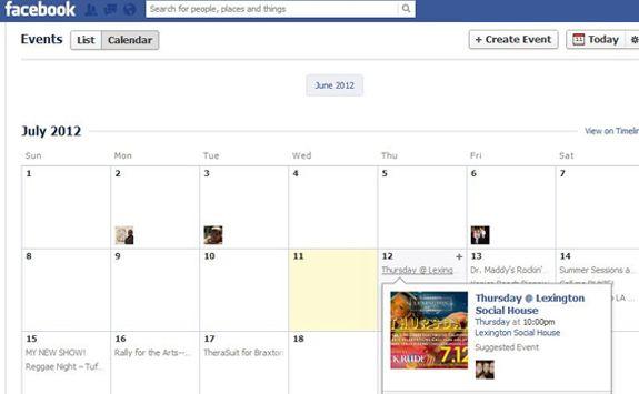 facebookcalendar Facebook rediseña los eventos de cada usuario con un calendario