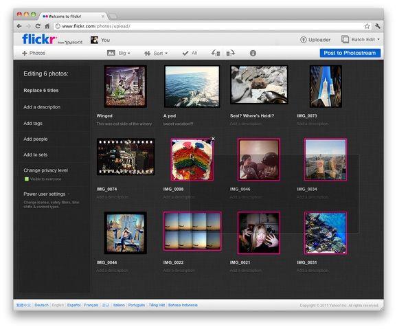 flickr upload view Flickr y 500px estrenan nuevo look