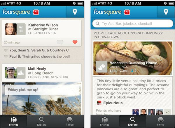 foursquare Foursquare renueva su look y se hace más social
