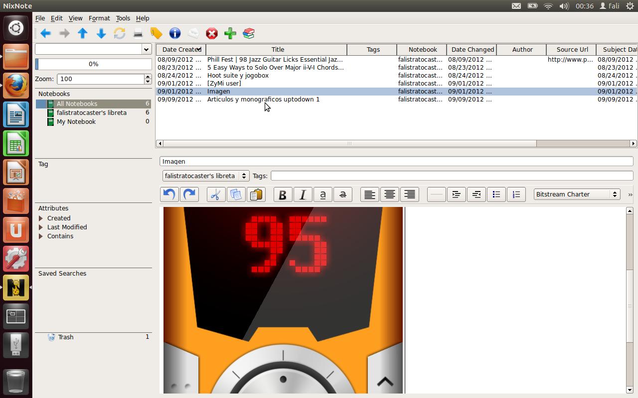fullscreen con imagen NixNote, toma notas de todo desde Ubuntu