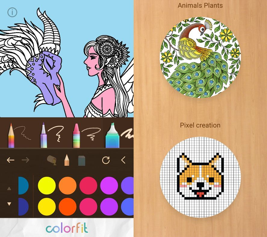 Relajate coloreando dibujos en estas cinco apps gratuitas Coloring book uptodown