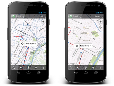 gmaps transport Llega el transporte público a Google Maps